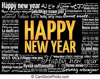 Happy new year in different languages celebration word cloud happy new year in different languages m4hsunfo