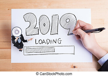 Happy new year is loading