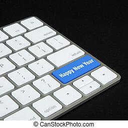 Happy new year keyboard button