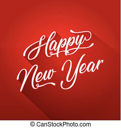 Happy New Year Lettering Card