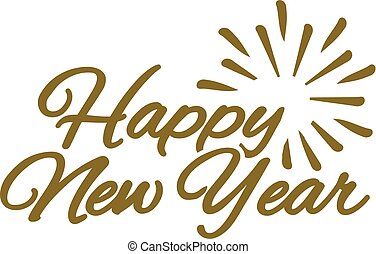 Happy new year lettering composition