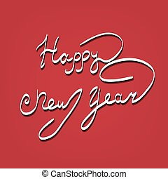 Happy New Year lettering Greeting Card