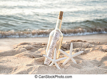 New Year message in a bottle