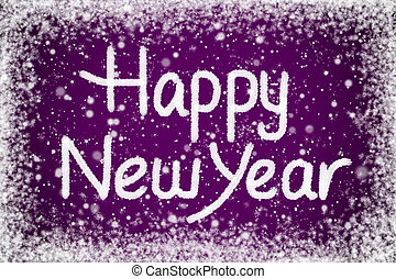 Happy New Year Message on Purple