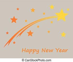 Happy New Year on gray