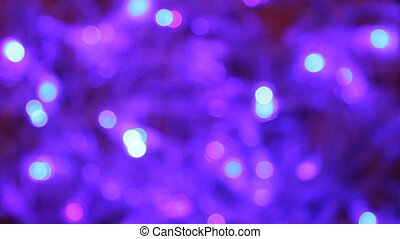 Happy new year. Out of focus. - Blinking bulbs.Out of focus....