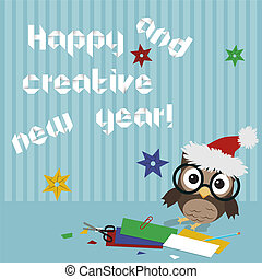 Happy new year owl