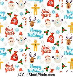 Happy New Year Seamless Background