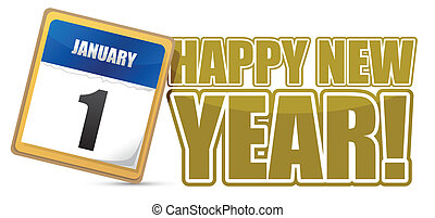 happy new year sign calendar