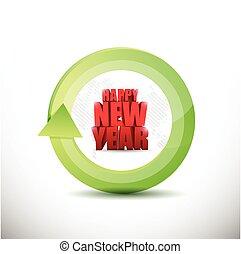 happy new year sign illustration design
