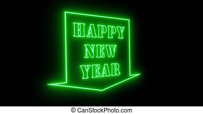 Happy New Year sign in neon to celebrate a festive party ...