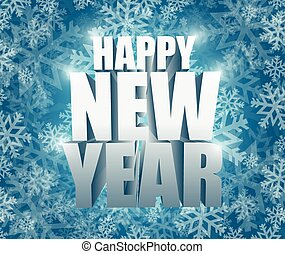 happy new year snowflake winter card