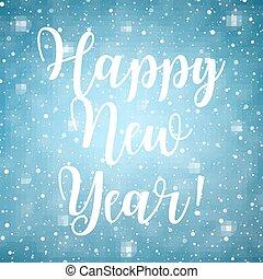 Happy New Year text,
