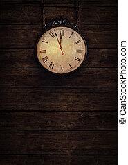 Ticking clock - Happy New Year - Ticking clock. Background...