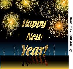 Happy New Year, Illustration vector