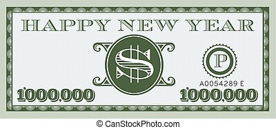 Happy New Year Vector Design - One Million with space for...
