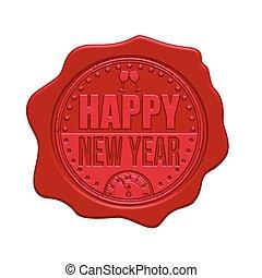 Happy New Year wax seal