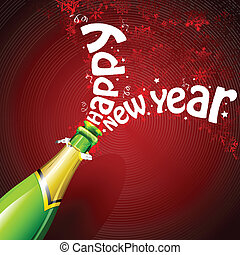 Happy New Year with Champagne