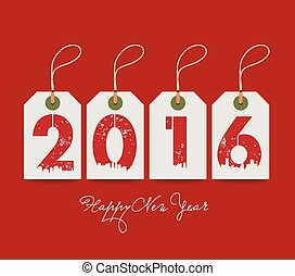 Happy new year with tags