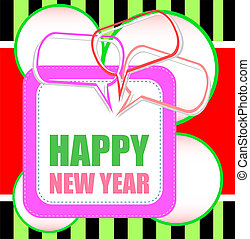 Happy New Year xmas design elements. Great design element for congratulation cards, banners and flyers.