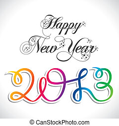 happy new year year 2013 in colorful style stock vector