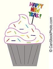 Happy New Years Cupcake