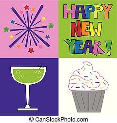 Happy New Years Icons