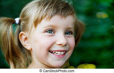 happy nice girl close-up