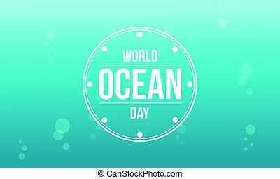 Happy ocean day background style