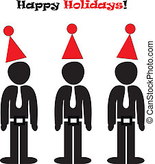 Happy office holidays illustration
