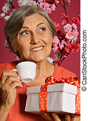 happy olderly woman - Portrait of a happy olderly woman...