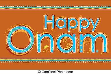 Happy Onam background - illustration of Happy Onam...