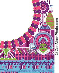 Happy Onam background for Festival of South India Kerala - ...