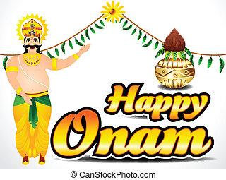 Happy Onam Background Vector