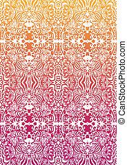 Happy orange-pink seamless pattern