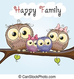 Happy Owls Family