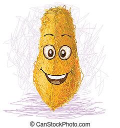 happy papaya - happy yellow papaya cartoon character...