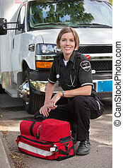 Happy Paramedic Portrait