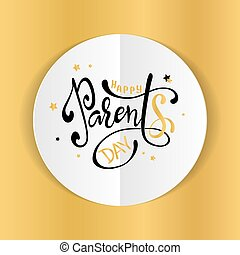 Happy Parents Day. Beautiful greeting card poster