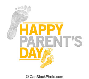 happy parents day sign. happy feet