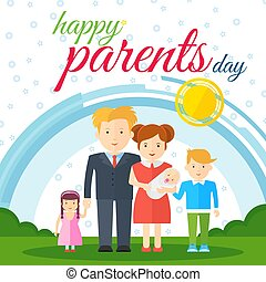 happy parents day white