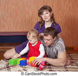 Happy parents with baby