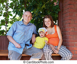 Happy parents with child