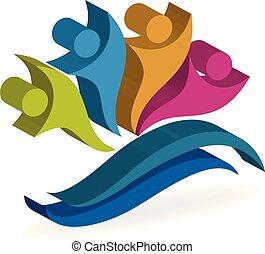 Happy partners business logo