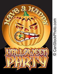 Happy Party Pumpkin