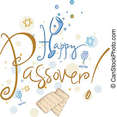 Happy Passover - Text Featuring the Words Happy Passover