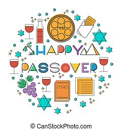 Happy Passover. Greeting card - Happy Passover (jewish ...