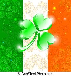 Happy Patrick day flag