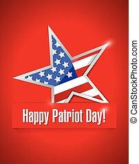 happy patriot day illustration design