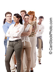 happy people business team group together